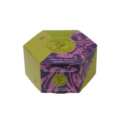 Perfumed gentle soap, with lavender essential oil