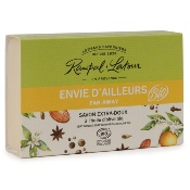 "Organic certified very gentle soap, ""Far away"