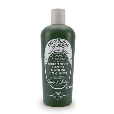 Traditional shower-shampoo, with olive oil